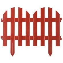 Забор декоративный, терракот GRINDA Палисадник 422205-T
