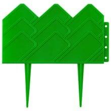 Бордюр декоративный для клумб, зеленый GRINDA 422221-G