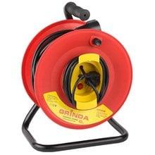 Удлинитель электрический силовой с заземлением, на катушке, 30 м GRINDA 8-43665-30