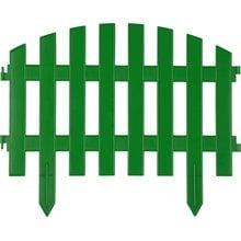 Забор декоративный, зеленый GRINDA Ар деко 422201-G