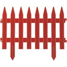 Забор декоративный, терракот GRINDA Классика 422201-T