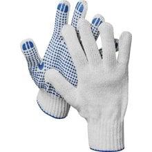 Перчатки трикотажные, 10 пар, 7 класс, с ПВХ покрытием (точка) DEXX 11400-H10
