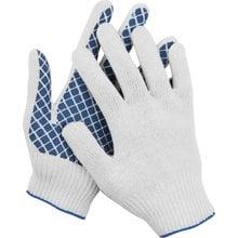 Перчатки трикотажные, 10 пар, 7 класс, с обливной ладонью DEXX 114001-H10