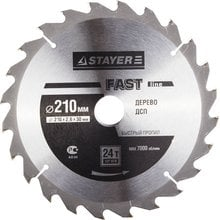 Диск пильный по дереву STAYER Master fast-Line 3680-210-30-24