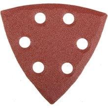 Треугольник шлифовальный универсальный на велкро основе, 6 отверстий, Р80, 93х93х93мм, 5шт STAYER 35460-080