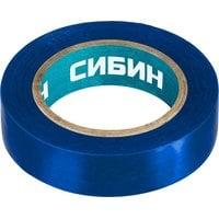 Изолента ПВХ 10 м х 15 мм синяя СИБИН 1235-7