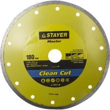 Круг отрезной алмазный STAYER MASTER 36675-180