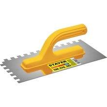 Гладилка штукатурная зубчатая нержавеющая с пластиковой ручкой STAYER 08012-10