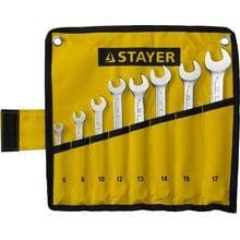 Набор комбинированных ключей 8 предметов 6-17 мм STAYER PROFI 27081-H8