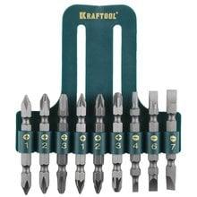 Набор бит двухсторонних 9 предметов Kraftool 26060-H10