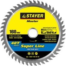 Диск пильный по дереву STAYER Master super-Line 3682-160-20-48