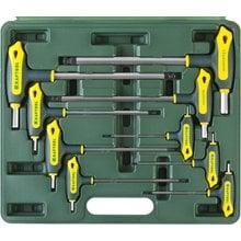 Набор Т-образных имбусовых ключей с шариком 9 предметов HEX 2-12 Kraftool INDUSTRIE 27454-H9