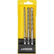 Набор буров SDS-plus 3 шт: 6 x 160, 8 x 160, 10 x 160 мм STAYER 29250-H3