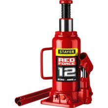 Домкрат гидравлический бутылочный 12 т 230-465 мм STAYER RED FORCE 43160-12_z01