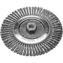 Щетка дисковая для УШМ, сплет в пучки стальн зак провол 0,5мм, 175мм/М14 STAYER 35192-175