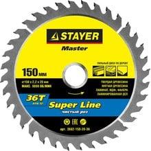 Диск пильный по дереву STAYER Master super-Line 3682-150-20-36