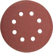 Круг шлифовальный 125 мм P80 8 отверстий 5 шт STAYER MASTER 35452-125-080