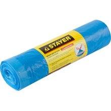 Мешки для мусора с завязками особопрочные голубые 120 л 10 шт STAYER 39155-120