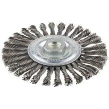 Щетка STAYER дисковая для УШМ, сплет в пучки стальн зак провол 0,5мм, 115мм/М14 STAYER 35192-115