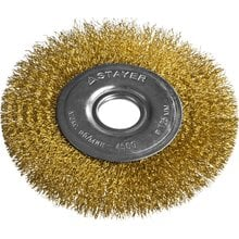 Щетка дисковая для УШМ витая стальная латунированная проволока 125 мм STAYER PROFI 35122-125