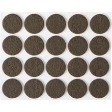 Накладки на мебельные ножки, самоклеящиеся, фетровые, коричневые, круглые - диаметр 22 мм, 20 шт STAYER 40910-22