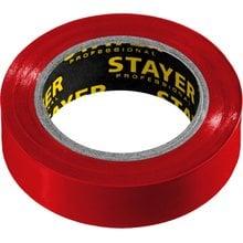 Изолента ПВХ, не поддерживает горение, 10 м (0,13х15 мм) красная STAYER 12291-R
