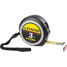 Профессиональная рулетка с двухсторонней шкалой 3 м/16 мм STAYER 3411-03-16