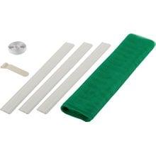 Сетка противомоскитная для двери с крепежной лентой и грузиками зеленая ПЭТ 2.2x1 м STAYER 12502-10-22