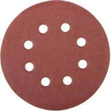 Круг шлифовальный 125 мм P100 8 отверстий 5 шт STAYER MASTER 35452-125-100