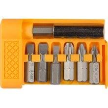Набор бит с магнитным адаптером 7 предметов STAYER STANDARD 26082-H7