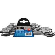 Набор рожковых ключей 7 предметов 8-24 мм СИБИН 27014-H7