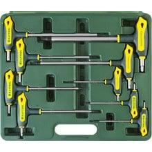Набор Т-образных имбусовых ключей 9 предметов TX HOLE 10-50 Kraftool INDUSTRIE 27455-H9