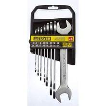 Набор рожковых ключей 8 предметов 6-24 мм STAYER PROFI 27037-H8