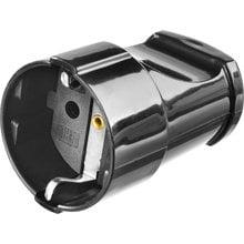 Розетка MAXElectro электрическая, 16А/220В, с заземлением, черная STAYER 55180-B