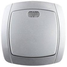 Выключатель АКЦЕНТ одноклавишный в сборе, с подсветкой, цвет серебристый металлик, 10А/~250В СВЕТОЗАР SV-54231-SM