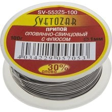 Припой оловянно-свинцовый ПОС 30 СВЕТОЗАР SV-55325-100