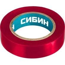 Изолента ПВХ 10 м х 15 мм красная СИБИН 1235-3