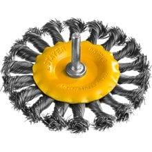 Щетка дисковая для дрели жгутированная стальная проволока 100 мм STAYER PROFI 35115-100