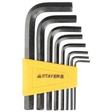 Набор имбусовых ключей 8 предметов HEX 2-10 STAYER STANDARD 27405-H8