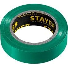 Изолента ПВХ, не поддерживает горение, 10 м (0,13х15 мм) зеленая STAYER 12291-G