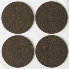 Накладки на мебельные ножки, самоклеящиеся, фетровые, коричневые, круглые - диаметр 50 мм, 4 шт STAYER 40910-50