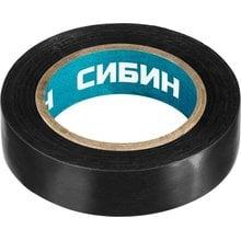 Изолента ПВХ 10 м х 15 мм черная СИБИН 1235-2