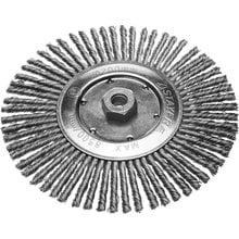 Щетка дисковая для УШМ, сплет в пучки стальн зак провол 0,5мм, 200мм/М14 STAYER 35192-200