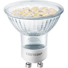 Лампа светодиодная Super luxx 5 Вт, GU10, 3000К, 220 В СВЕТОЗАР 44560-35