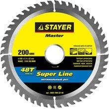 Диск пильный по дереву STAYER Master super-Line 3682-200-32-48