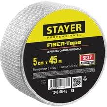 Серпянка самоклеящаяся FIBER-Tape, 5 см х 45м, STAYER Professional 1246-05-45_z01