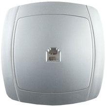 Розетка АКЦЕНТ телефонная одинарная в сборе, цвет серебристый металлик СВЕТОЗАР SV-54217-SM