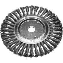 Щетка дисковая для УШМ, сплет в пучки стальн зак провол 0,5мм, 200мм/22мм STAYER 35190-200
