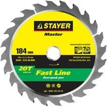 Диск пильный по дереву STAYER Master fast-Line 3680-184-20-20