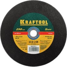 Круг отрезной абразивный по металлу 230x1.6x22.23 мм Kraftool 36250-230-1.6